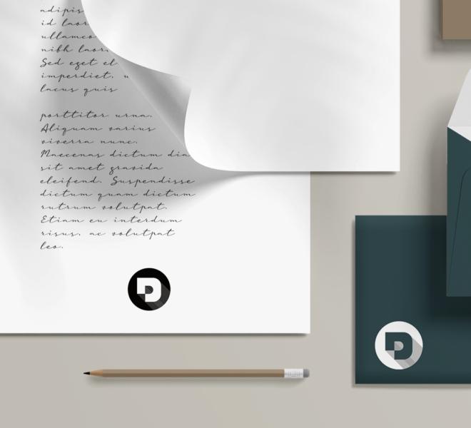 Branding Mockup Signature - Desuals' logo