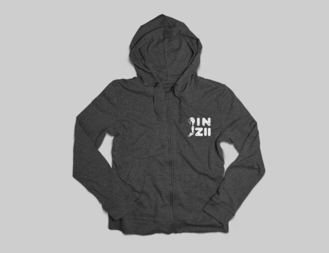 Design agency Munich, a video game logo on a black hoodie