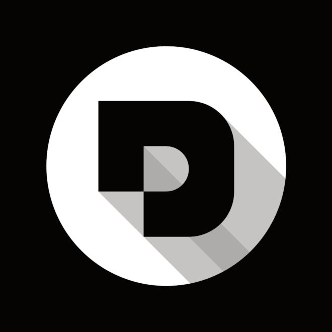 Desuals' logo, black or dark background