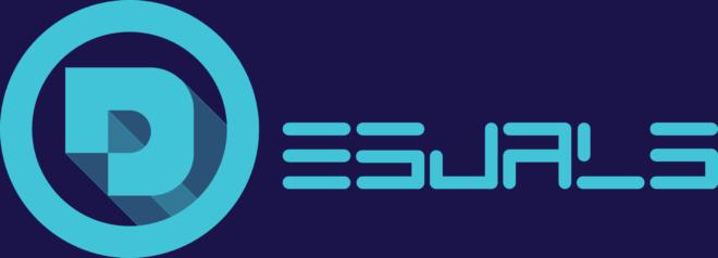 Desuals' logo for the website, long version