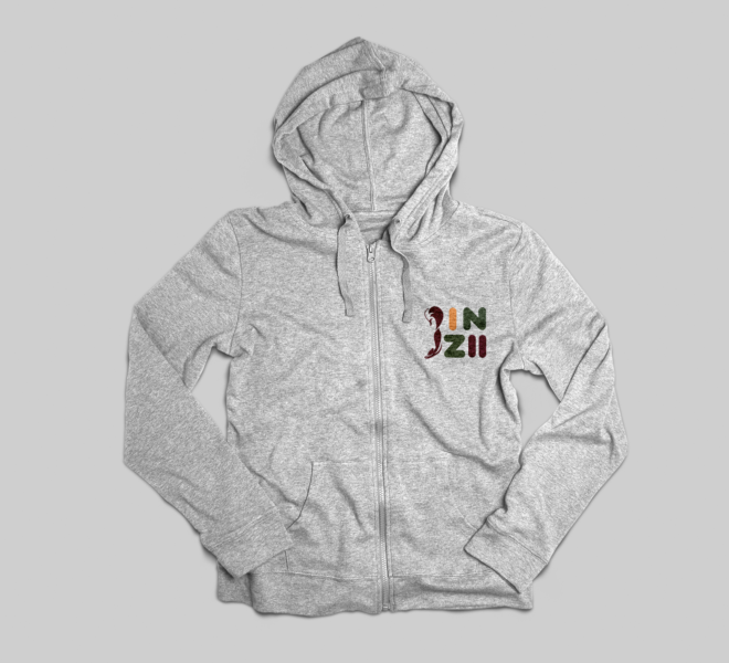 Design agency Munich, a video game logo on a white hoodie