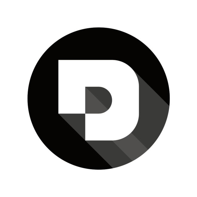 Desuals' logo, white or light background