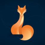 fox logo - flat design